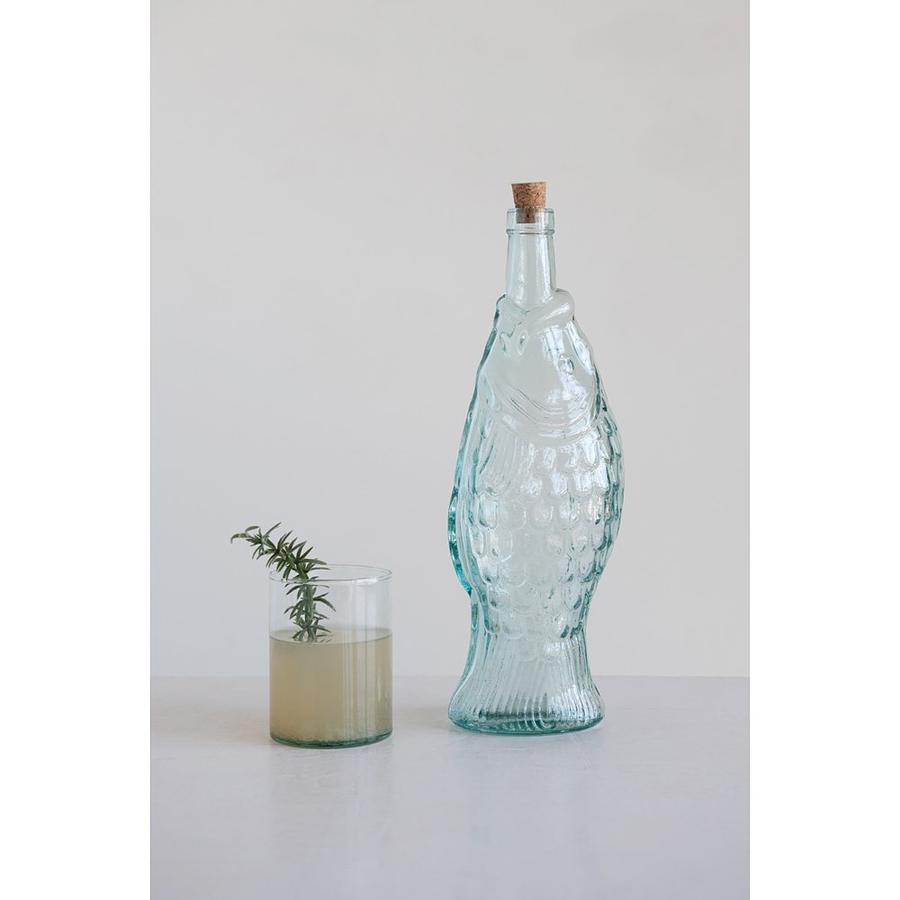 Botella pez vidrio