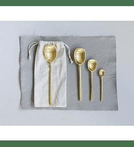 Set cucharas bronce