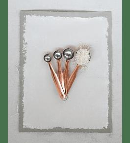 Cucharas medidoras cobre