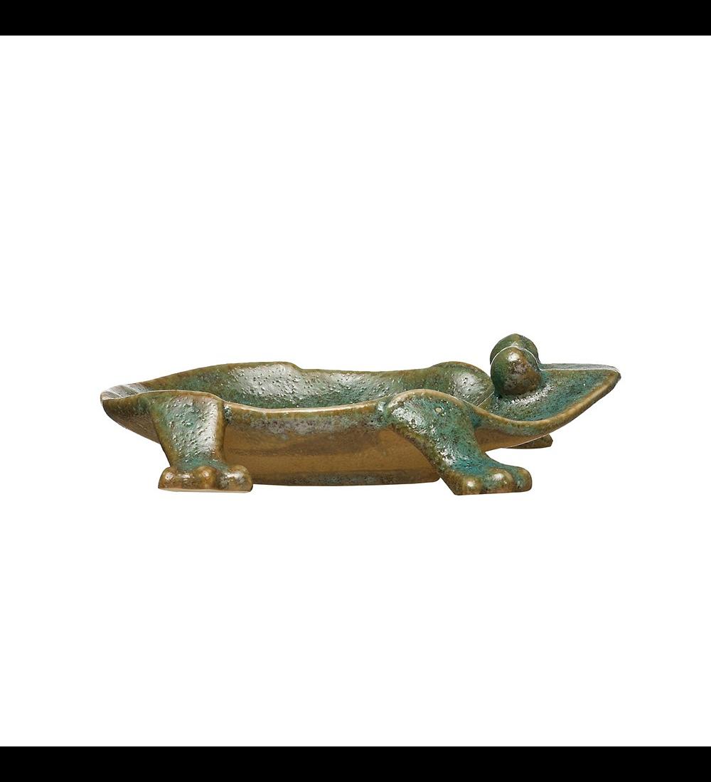 Plato rana cerámica