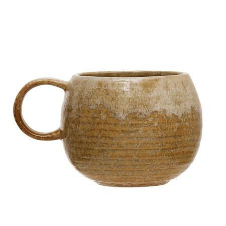 Taza cerámica mostaza