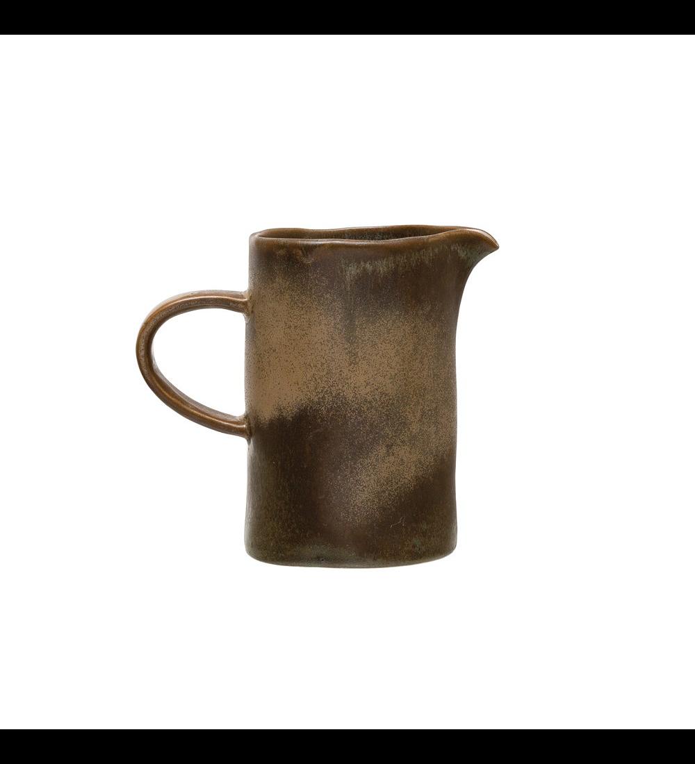 Cremero cerámica café