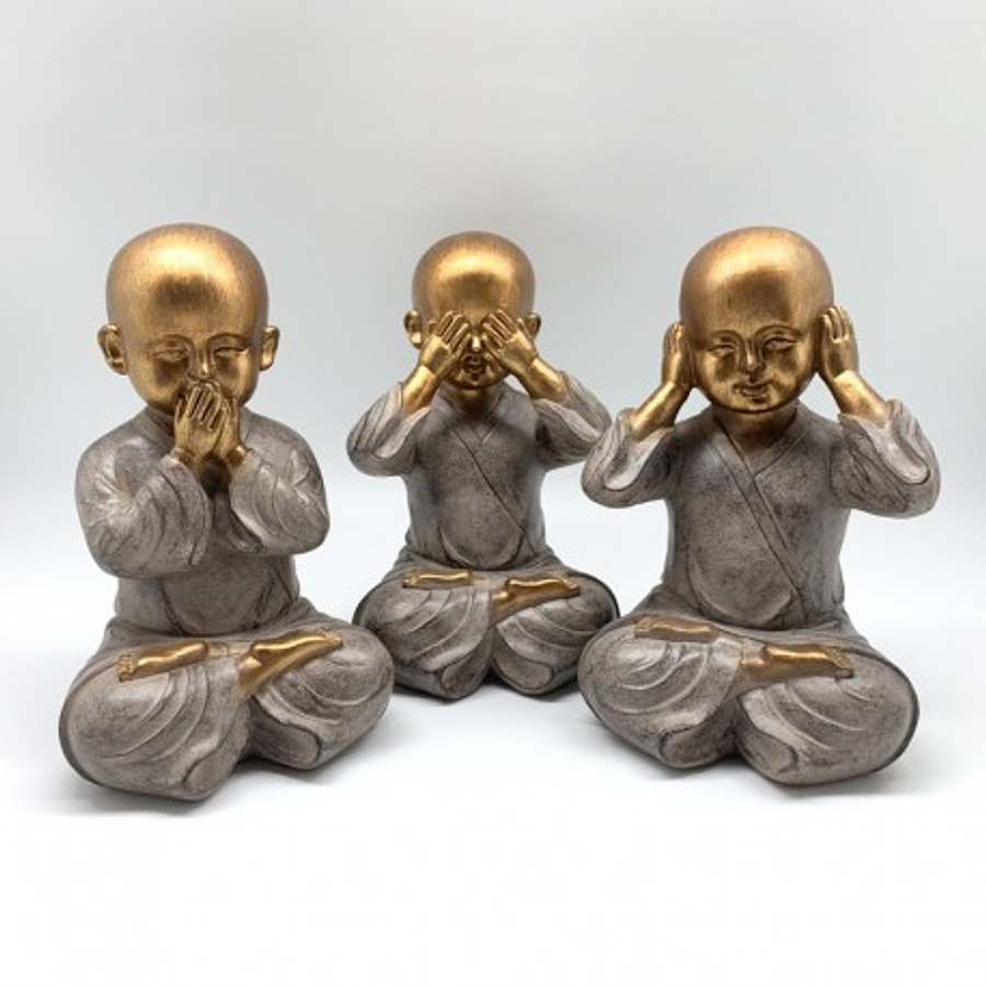 Set trío monjes sabios