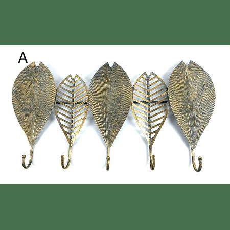 Percha metálica hojas