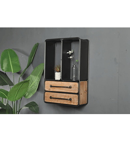 Repisa madera y fierro