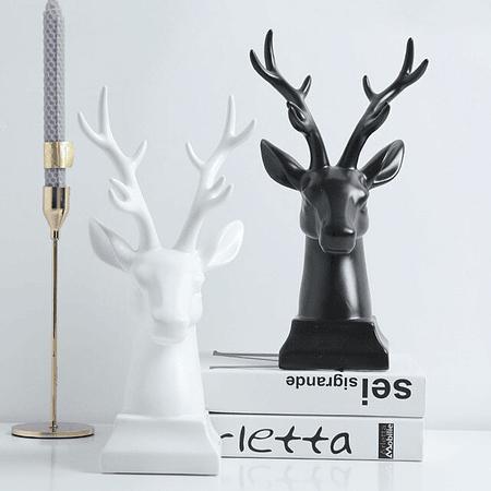 Cabeza ciervo cerámica