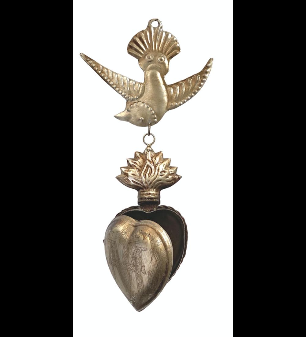 Corazón sagrado pájaro