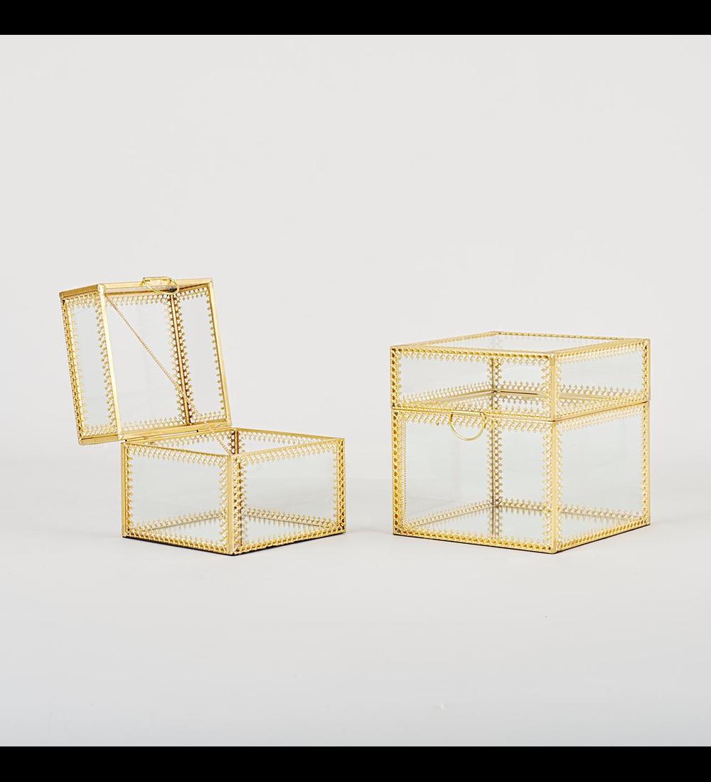 Joyeros vidrio cuadrados