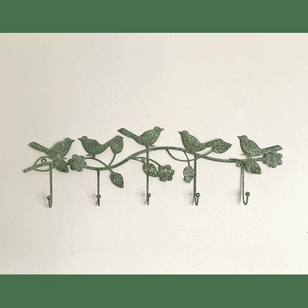 Percha pajaritos verde menta