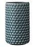 Macetero polka dots azul