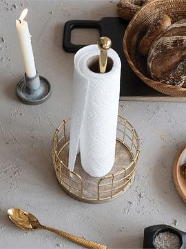 Porta toalla papel metálico