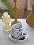 Set tazas cerámica gres