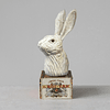 Cabeza conejo madera