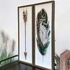 Set cuadros flecha y pluma