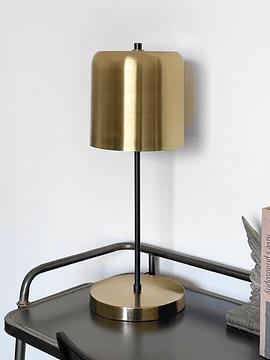 Lámpara dorada y negra