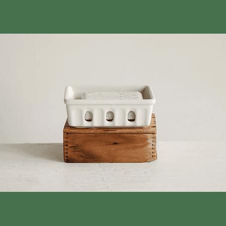 Jabonera cerámica orificios