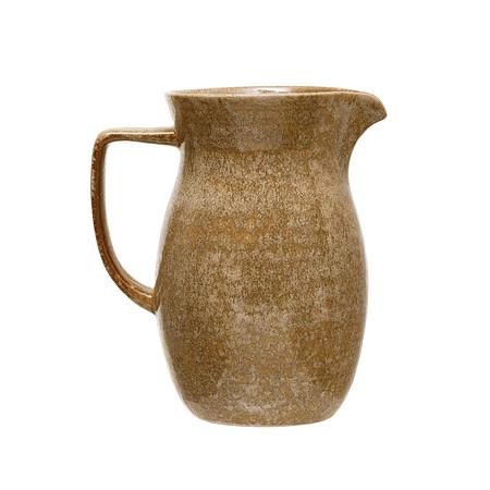 Jarra cerámica café