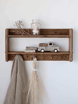 Repisa perchero madera