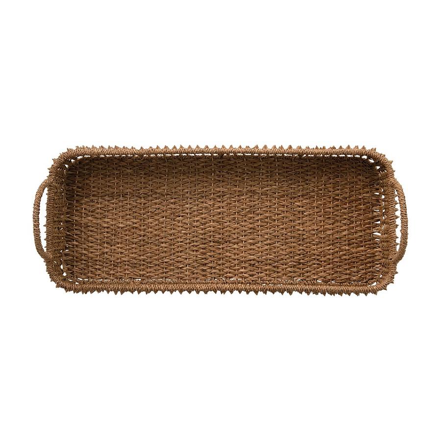Bandeja fibra palma rectangular