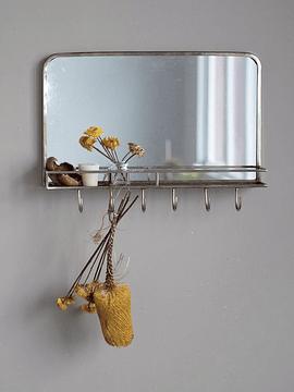 Espejo perchero dorado