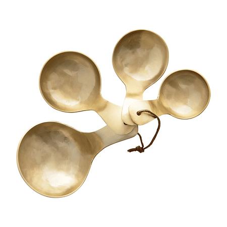 Set cucharas doradas