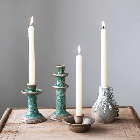 Candelabros / palmatoria cerámica