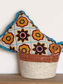Funda algodón y bordado