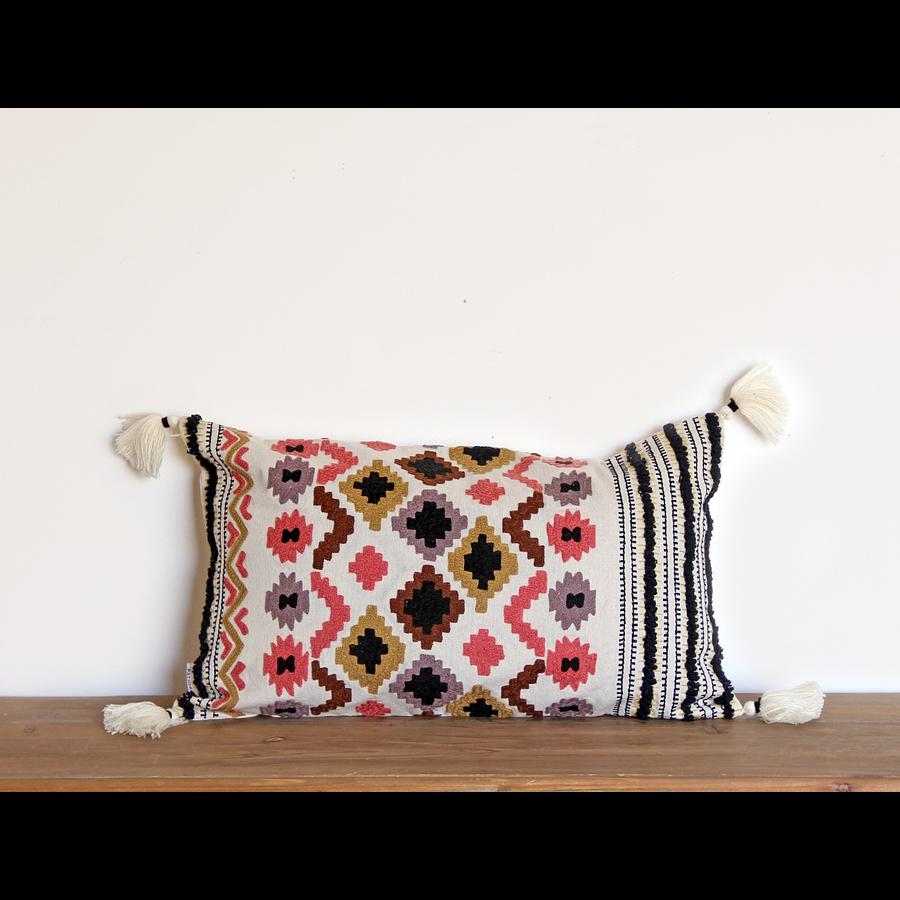 Funda algodón bordada