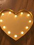 Luz lámpara corazón