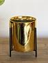 Maceteros dorados cerámica