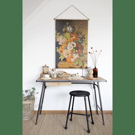 Escritorio madera y metal