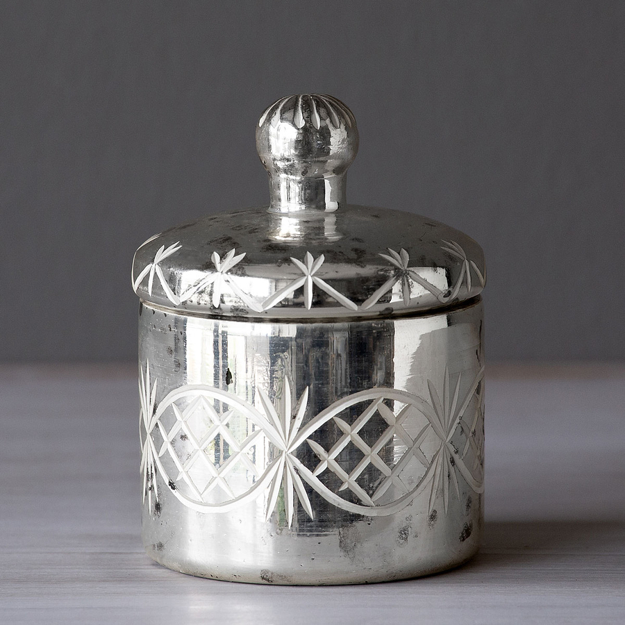 Contenedor vidrio mercurio