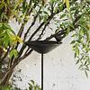 Bebedero pájaro hierro