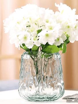 Florero agua vidrio