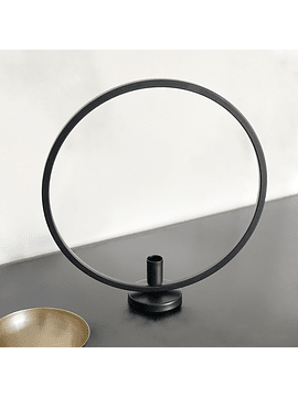 Candelabro aro negro