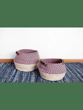 Canasto algodón y fibra colores