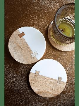 Posa vaso madera y resina