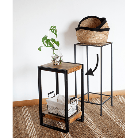 Mesa madera mango y fierro