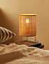 Lámpara fibra y patas doradas