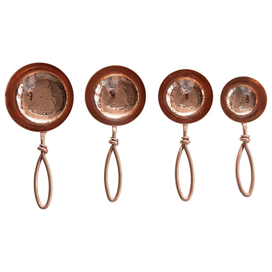 Set cucharas martilladas cobre