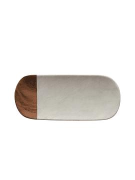 Tabla madera mármol ovalada