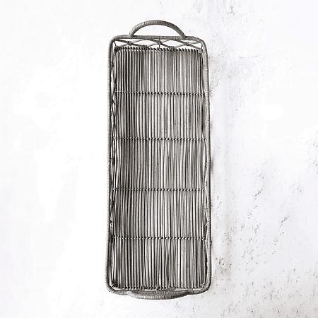 Bandeja rectangular fibra gris