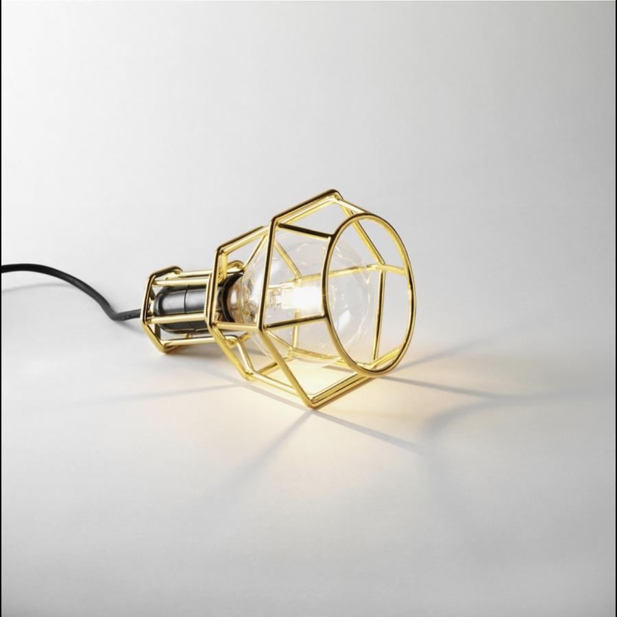 Lámpara colgante dorada