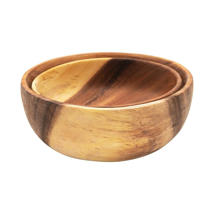 Set bowls madera