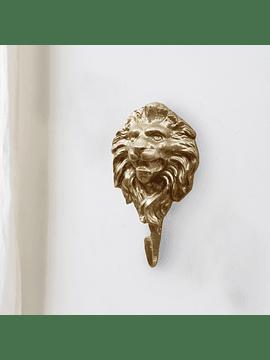 Percha león dorada