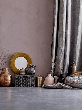 Jarrón cerámica dorado