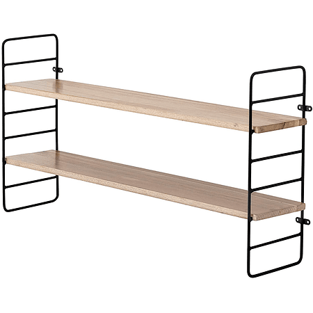 Repisa madera metal ajustable