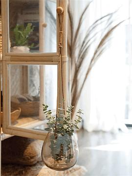 Macetero vidrio colgante