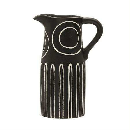 Jarra cerámica negra