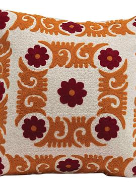 Cojín algodón bordado